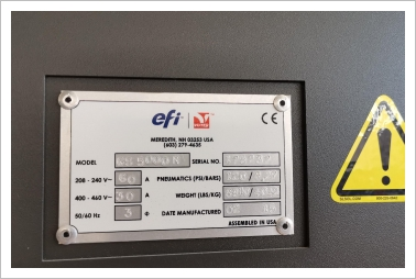 efi Vutek GS 5000R under efi  fullservicecontract